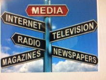 Adam Grossberg - Adjunct image of sign with different media listed